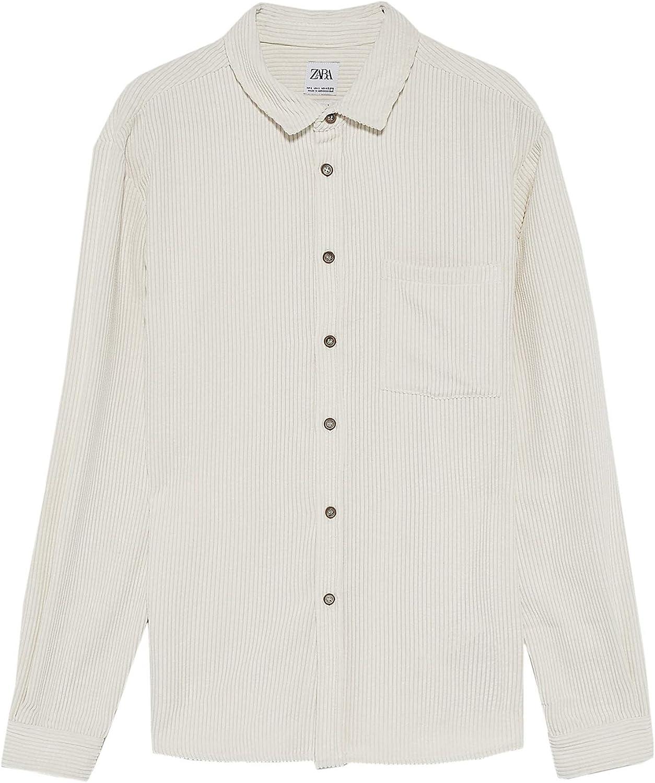 Zara 0387/301/712 - Camiseta de Pana para Hombre - Marfil - X ...