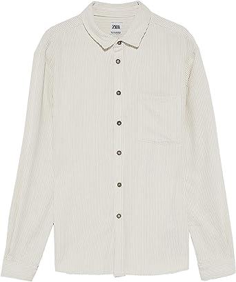 Zara 0387/301/712 - Camiseta de Pana para Hombre - Marfil - X-Large: Amazon.es: Ropa y accesorios