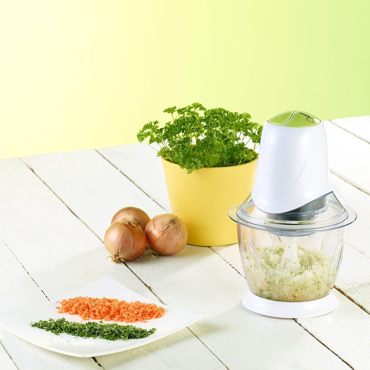 Pearl Mini trituradora: minipicadora eléctrica, 2 cuchillas, 300 W, depósito, 1,2 l (picadora de cebolla eléctrica): Amazon.es: Hogar