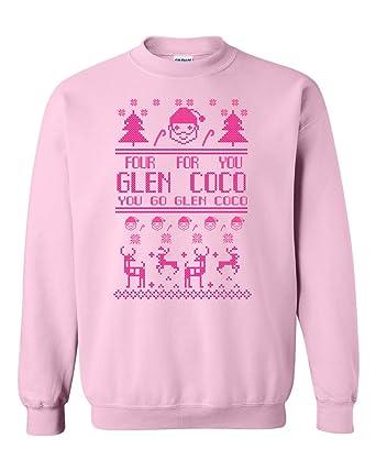 ugly xmas christmas sweater you go glen coco mean girls sweatshirt pink - Pink Ugly Christmas Sweater