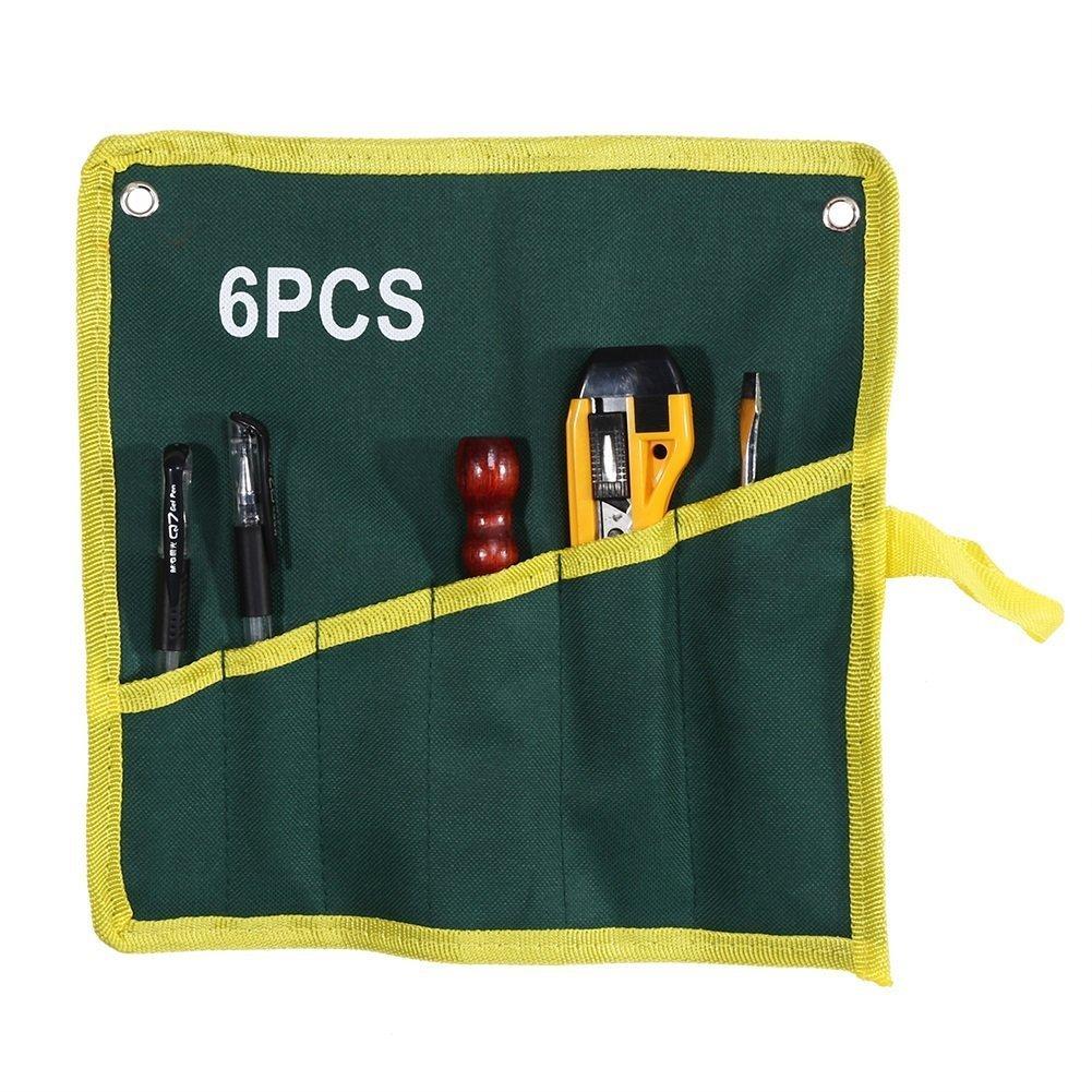 Sac De Rangement Stockage Cl/és Clefs Outils De Mat/ériel Durable Canevas Portatif Multi-usage 6//8//10//12//14//25 Poches Taille : 12 Pockets