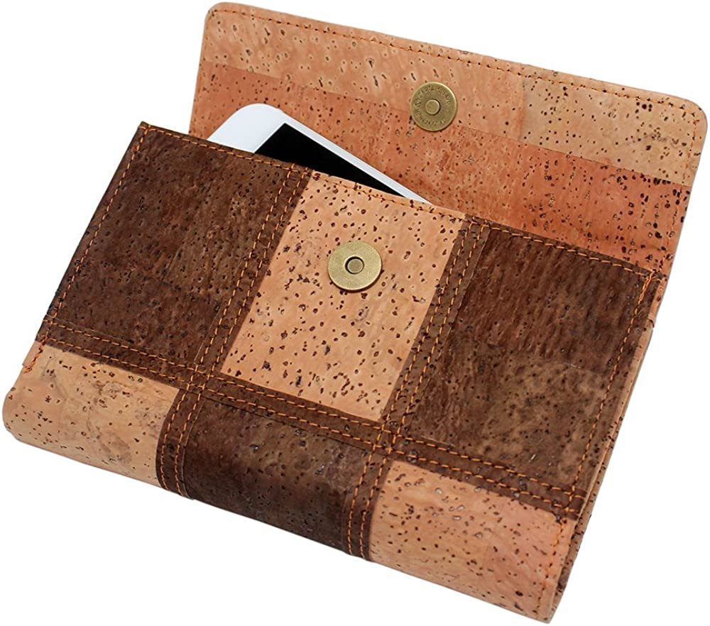 Boshiho Cork Wallet Credit Card Holder Cell Phone Clutch Purse for iPhone Samsung Galaxy Vegan Gift