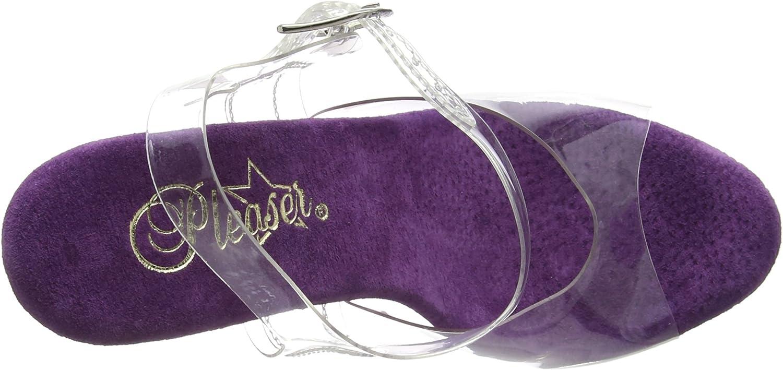 Pleaser Stardust 708t, Sandalias de tacón para Mujer Transparente Clr Purple Clr