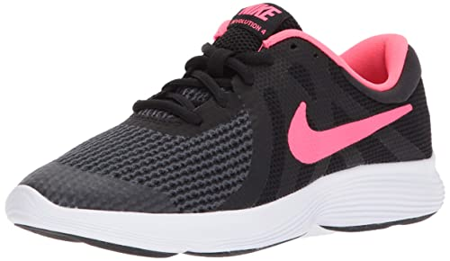 dd80dec9ed14f Nike Unisex Kids  Revolution 4 (Gs) Competition Running Shoes Black ...