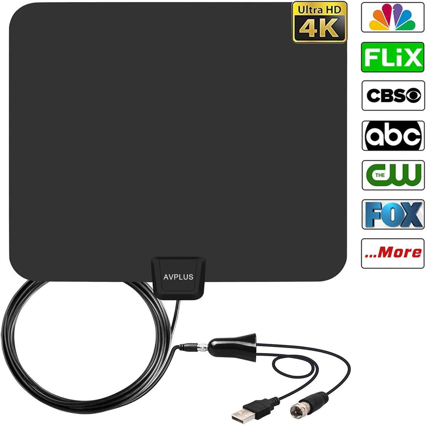 AVPLUS - Antena de televisión Digital amplificada con 65-80 ...
