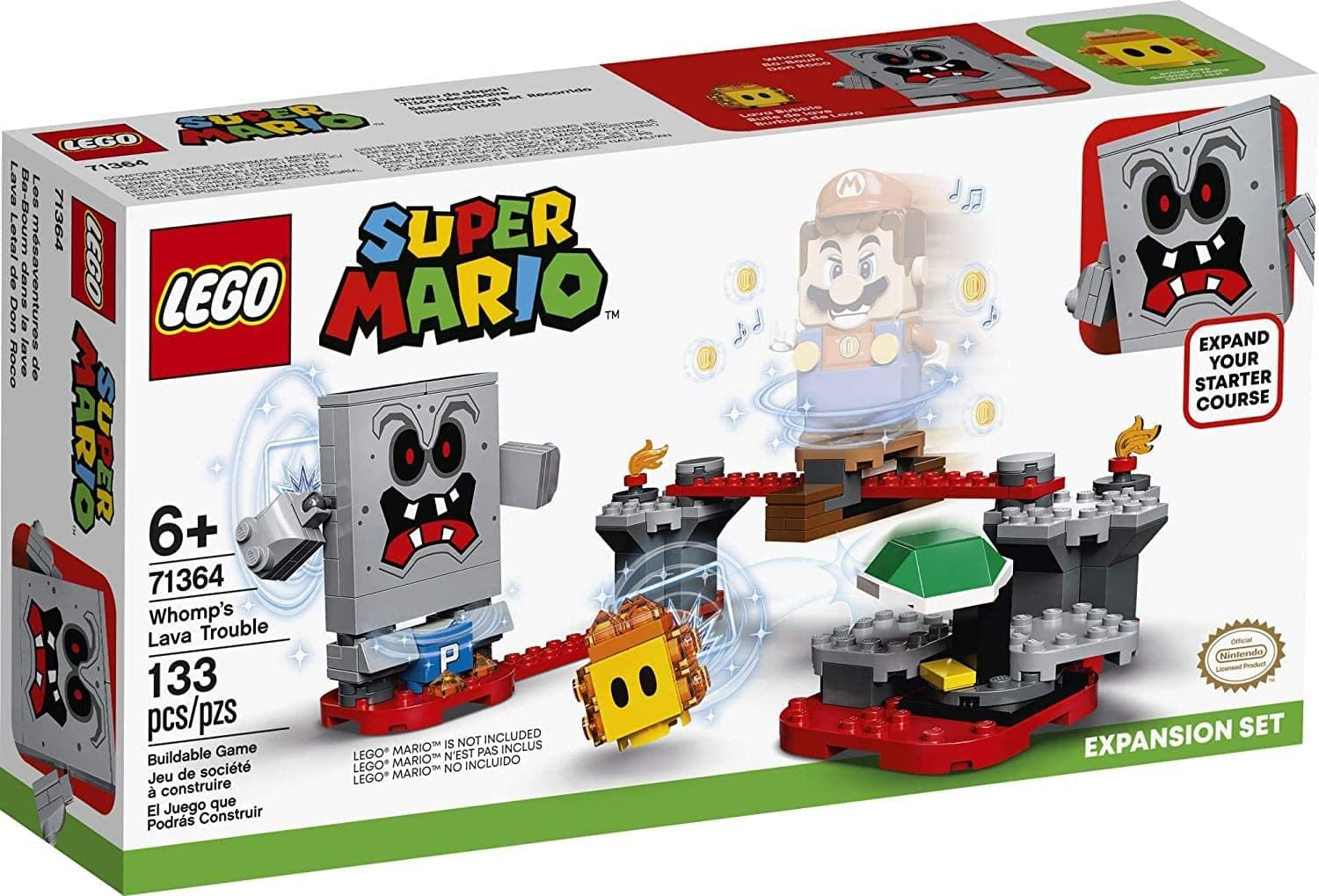 New 2020 LEGO Super Mario Whomp/'s Lava Trouble Expansion Set 71364 Building Kit; Toy for Kids to Enhance Their Super Mario Adventures with Mario Starter Course 133 Pieces 71360