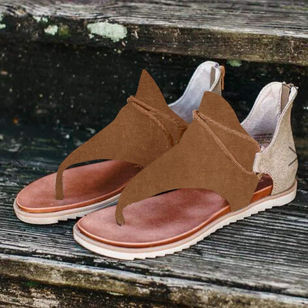 BIKETAFUWY Leopard Flats Sandals for Women Flatform Slippers Flip FlopZipper Shoes Lace Up Booties Pointed Toe Boots