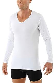 ALBERT KREUZ Camiseta Interior Invisible Color Carne/Piel/Beis de Manga Larga con Cuello de Pico y de algodón elástico: Amazon.es: Ropa y accesorios