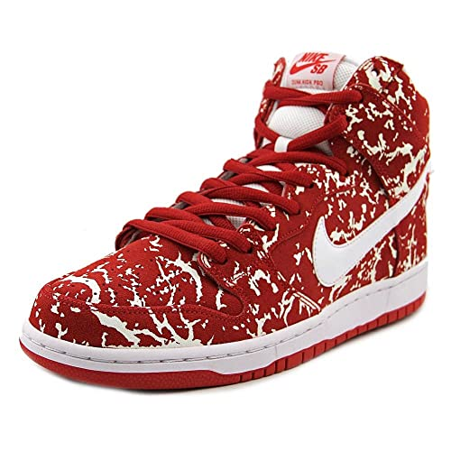 282ad329685f Nike Mens Dunk High Premium SB Raw Meat Challenge Red White Synthetic Size  10  Buy Online at Low Prices in India - Amazon.in