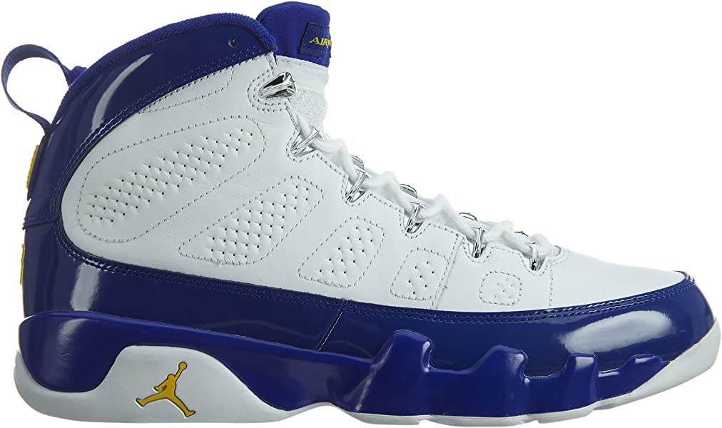9bfb0c02c2184a Nike Mens Air Jordan 9 Retro White Tour Yellow-Concord Leather Size 8.5