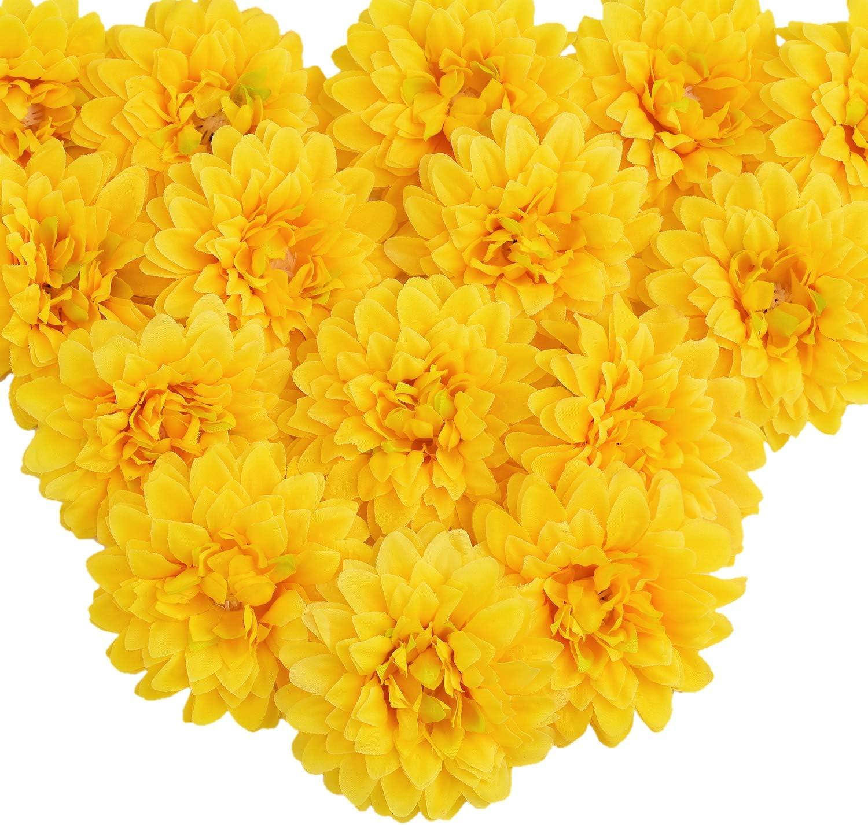 Amazon Com Silk Marigold Flower Heads Bulk Artificial Marigold