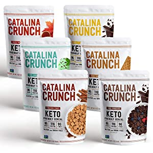 Catalina Crunch Keto Cereal Variety Pack (6 Flavors): Keto Friendly, Low Carb, Zero Sugar, Plant Protein, High Fiber, Gluten & Grain Free