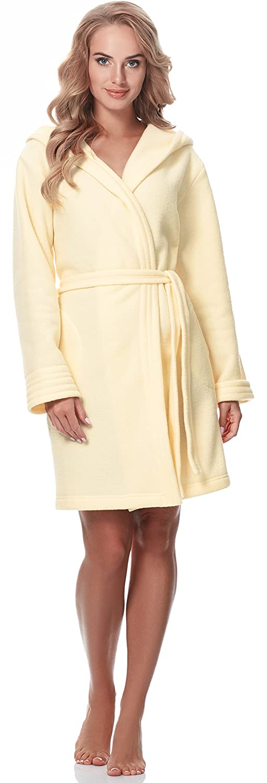 Merry Style Damen Bademantel mit Kapuze M4N3Q52: Amazon.de: Bekleidung