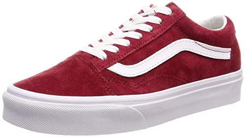 Vans Old Skool Zapatillas Rojo-Blanco  Amazon.es  Zapatos y complementos e051f48389f