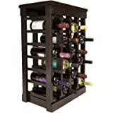 El Mar Furnishings 24-Bottle Classic Wood Wine Rack, Dark Brown
