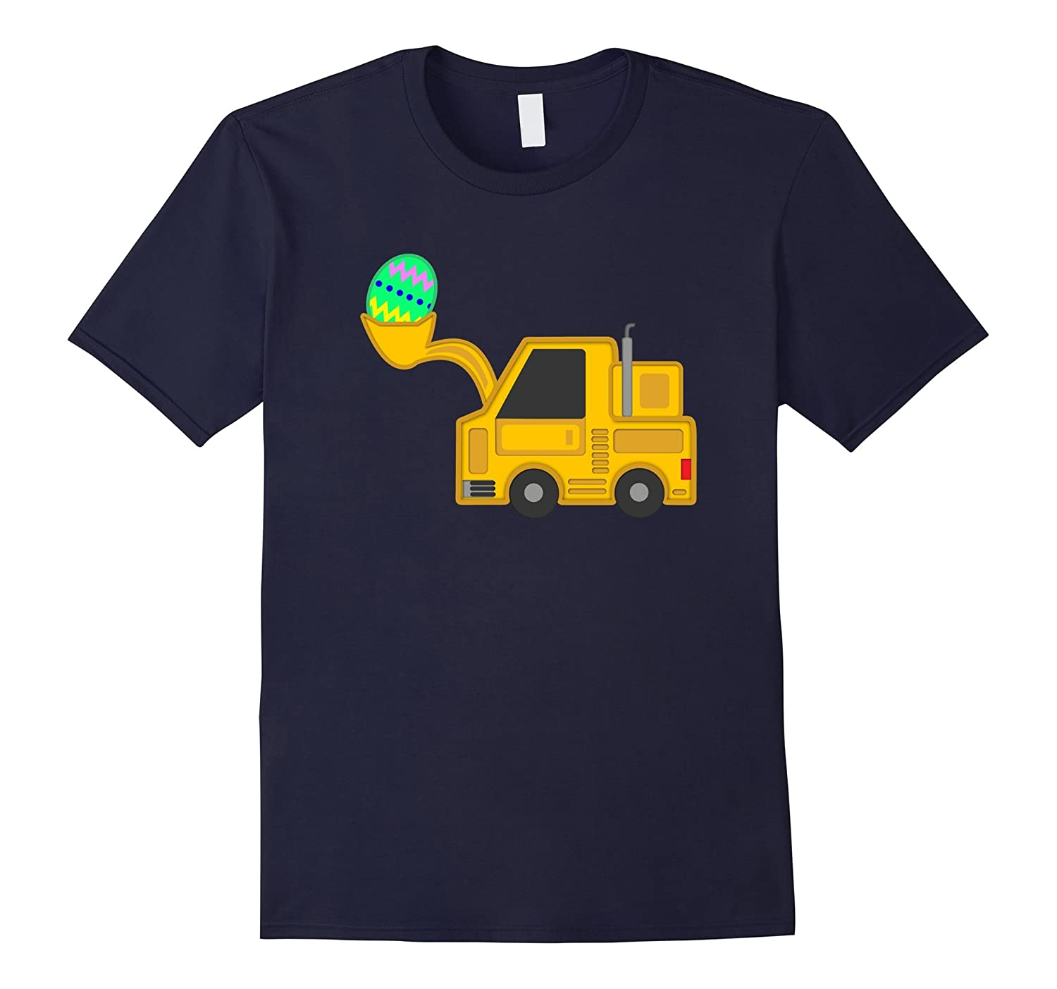 Tractor Truck Car Easter Shirts for Boys Kids Tie Egg Hunt-CD