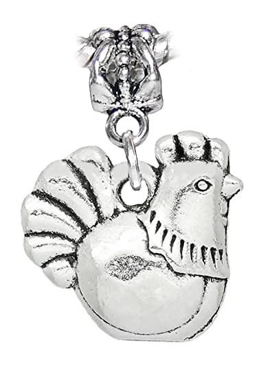bf8747c1b Image Unavailable. Image not available for. Color: Rooster Chicken Bird  Kitchen Animal Dangle Charm for European Bracelets
