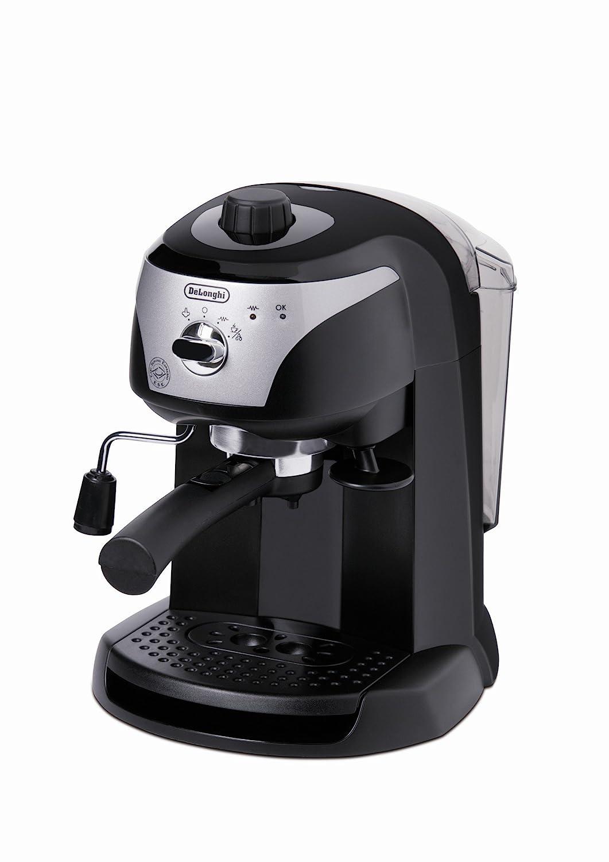 Delonghi EC221.B - Cafetera de bomba tradicional (presión 15 bares, depósito agua 1l, espumador de leche, café molido o filtros monodosis): Amazon.es: ...