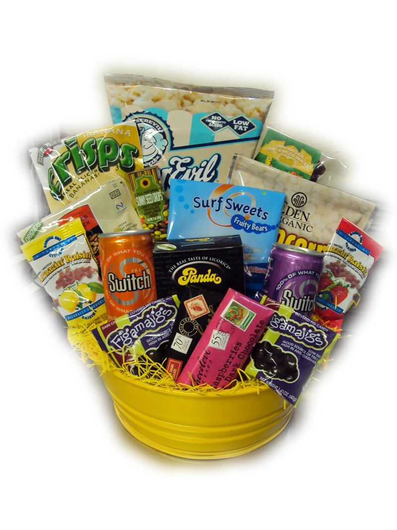 Healthy Movie Night Gift Basket by Well Baskets by Well Baskets