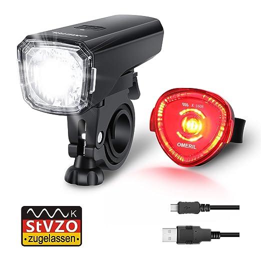OMERIL - Juego de luces LED para bicicleta, homologadas por la ...
