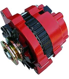 new custom built hi amp hi output 1 one wire red alternator for gm chevrolet  220