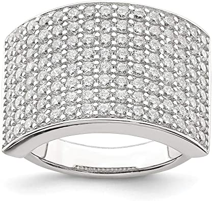 925 Sterling Silver Cubic Zirconia Cz Band Ring Fine Jewelry For Women Gifts For Her