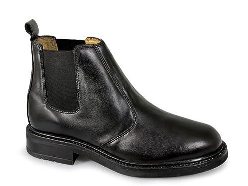 Roamers OLIVER Mens Twin Gusset Soft Leather Chelsea Boots Black B00YO31BLQ