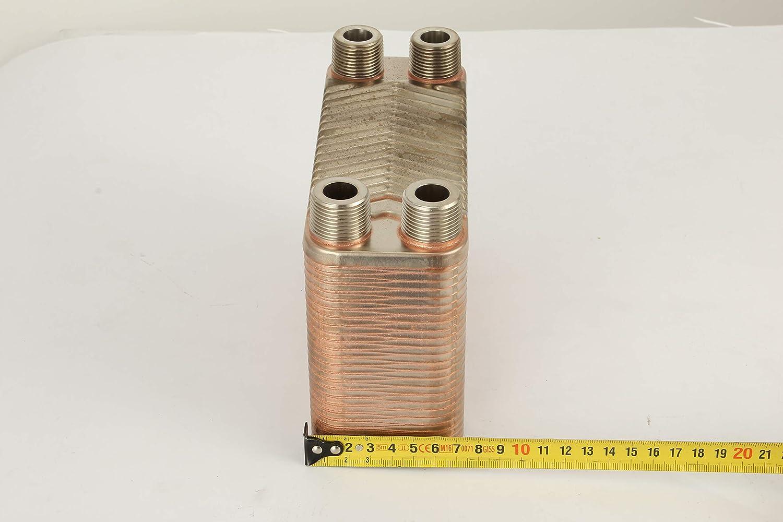 Mophorn Intercambiador de Calor Caldera Caldera de Madera del Intercambiador de Calor b3-12a-50 de 50 Placas