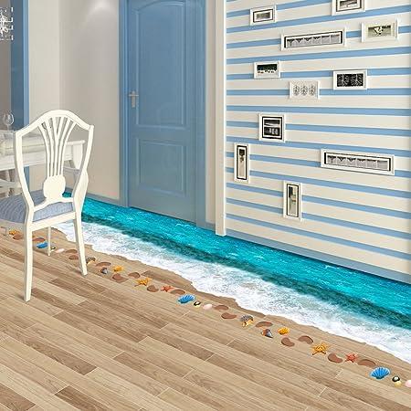 Kreative 3d Nahtlose Surfstrand Aufkleber Wohnzimmer Boden Kuche