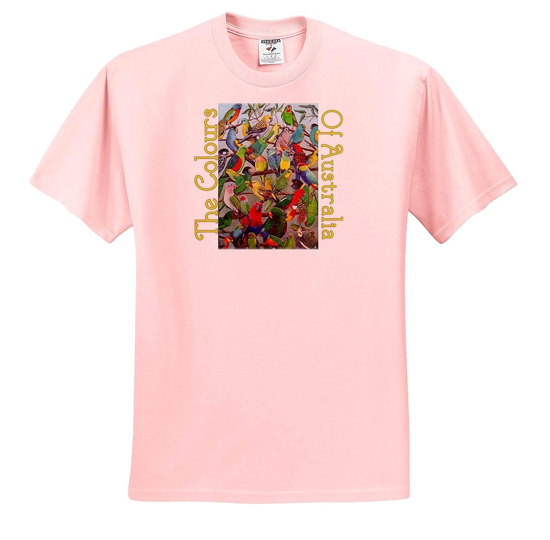 Adult T-Shirt XL 3dRose Skye Elizabeth Designs The Colours of Australia Parakeet Collection ts/_308678