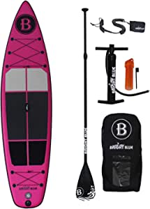 "Bright Blue Enhanced Inflatable Stand Up Paddle Board 11'6"" (6"" Thick) with Pump, Paddle,Backpack, Fin, Leash"