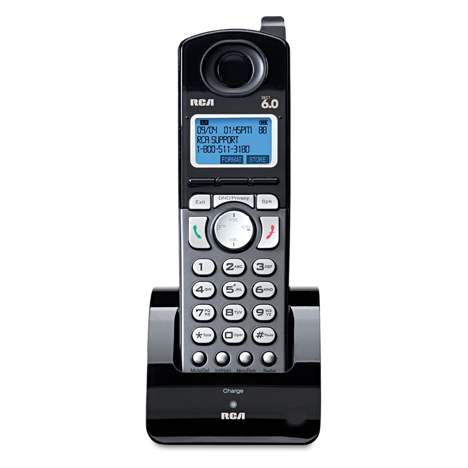 RCA 25055RE1 DECT 6.0 Cordless 2-Line Handset Accessory for RCA 2-Line Base Station (Handset Does Not Work Independently) by RCA