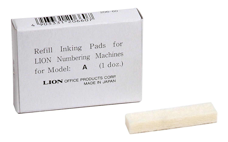 1/scatola Modello PAD-C 12/Pads//Box Lion modello di inchiostro di ricambio automatico numerazione macchine