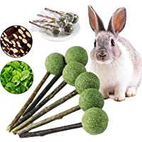 kathson 12pcs Bunny Chew Toys for Teeth Grinding,Natural Organic Apple Sticks for Rabbits,Rodent Pets Rats Snacks…