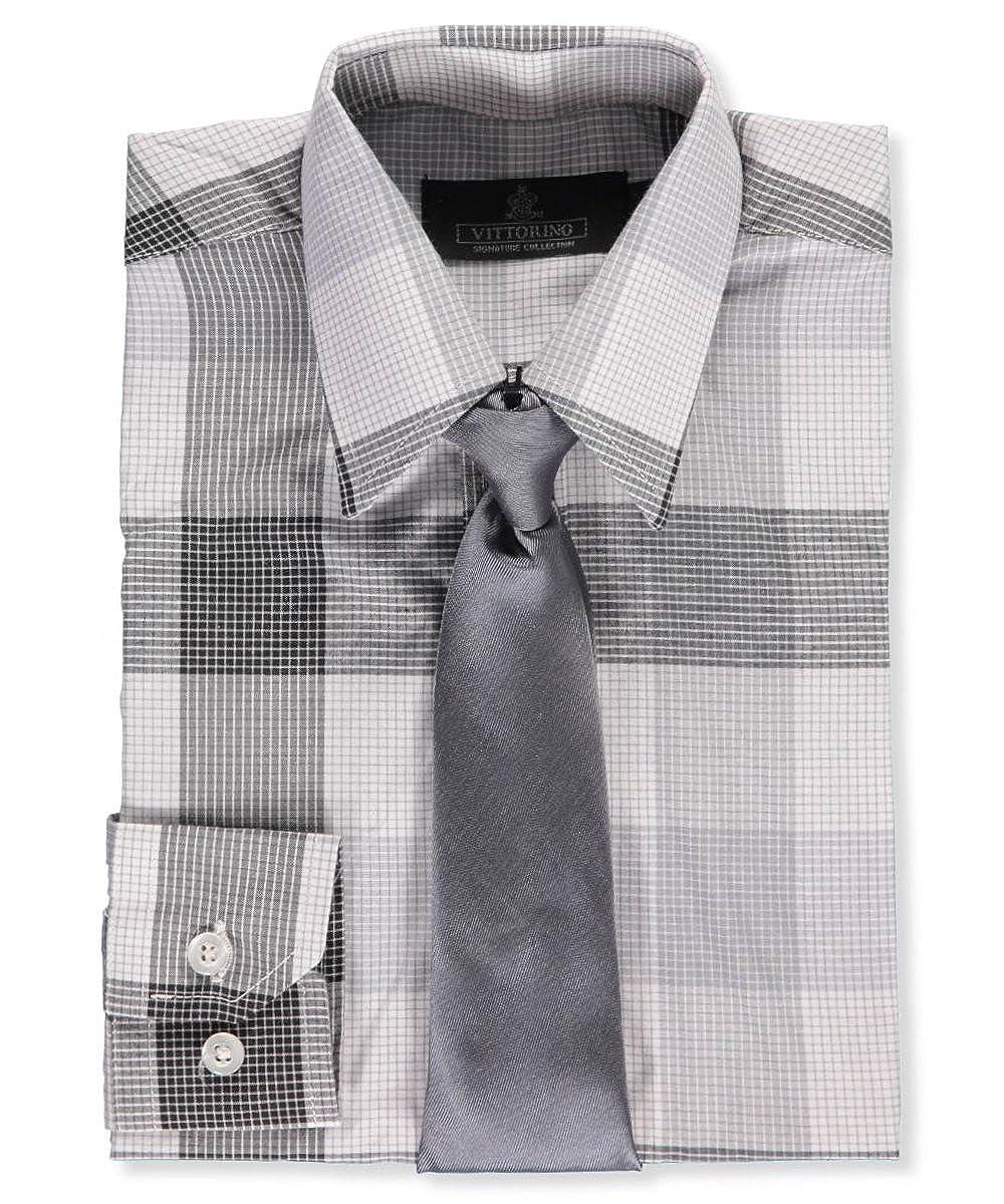 Vittorino Little Boys' Dress Shirt with Tie 6