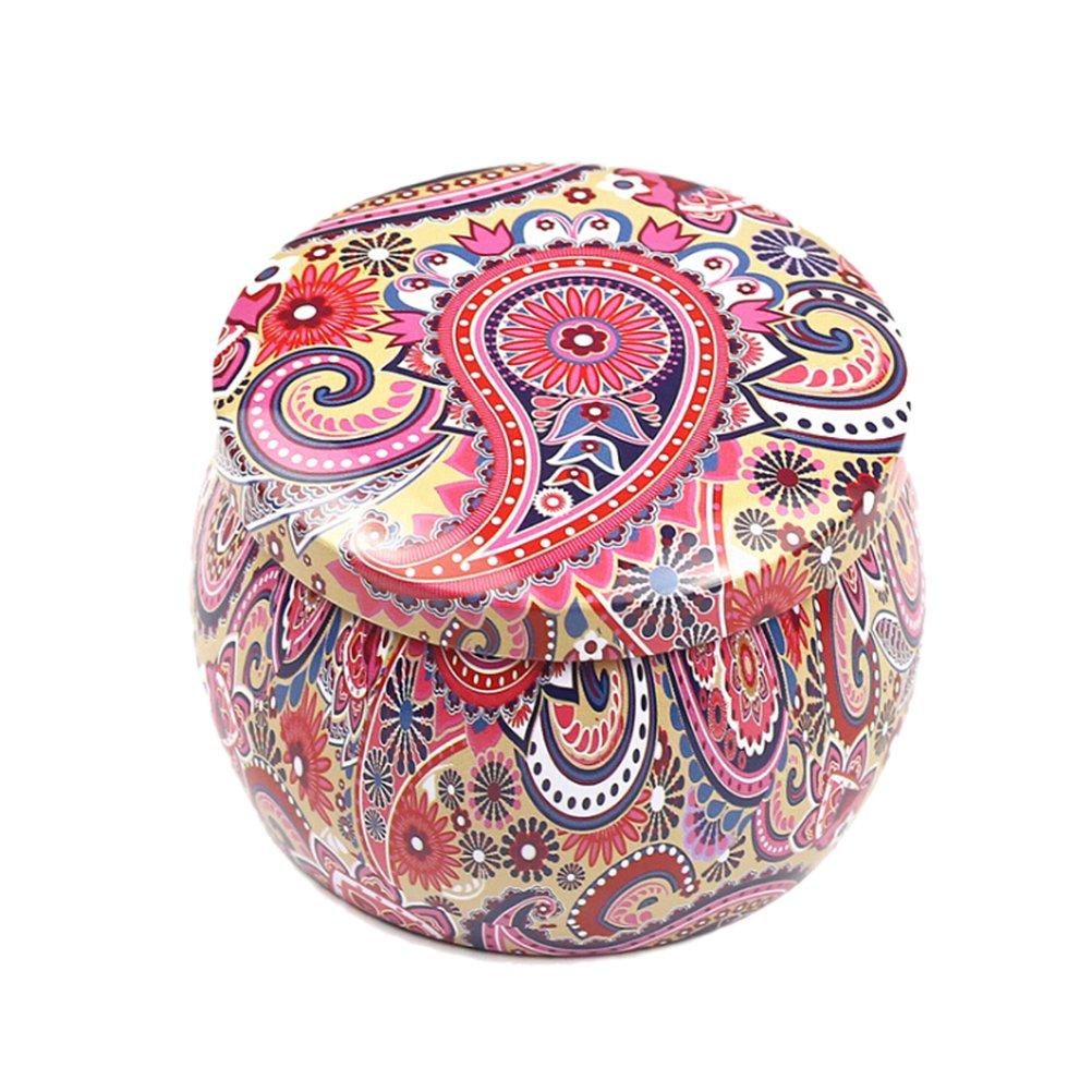 Healifty Caja de Dulces de Metal Caja de Regalo Caja de T/é Pastel Velas para Fiesta de Boda D/ía de San Valent/ín