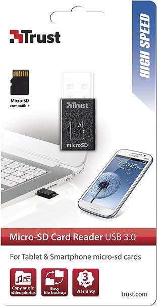 Trust 19978 - Lector de Tarjetas de Memoria Micro SD (USB 3.0 ...