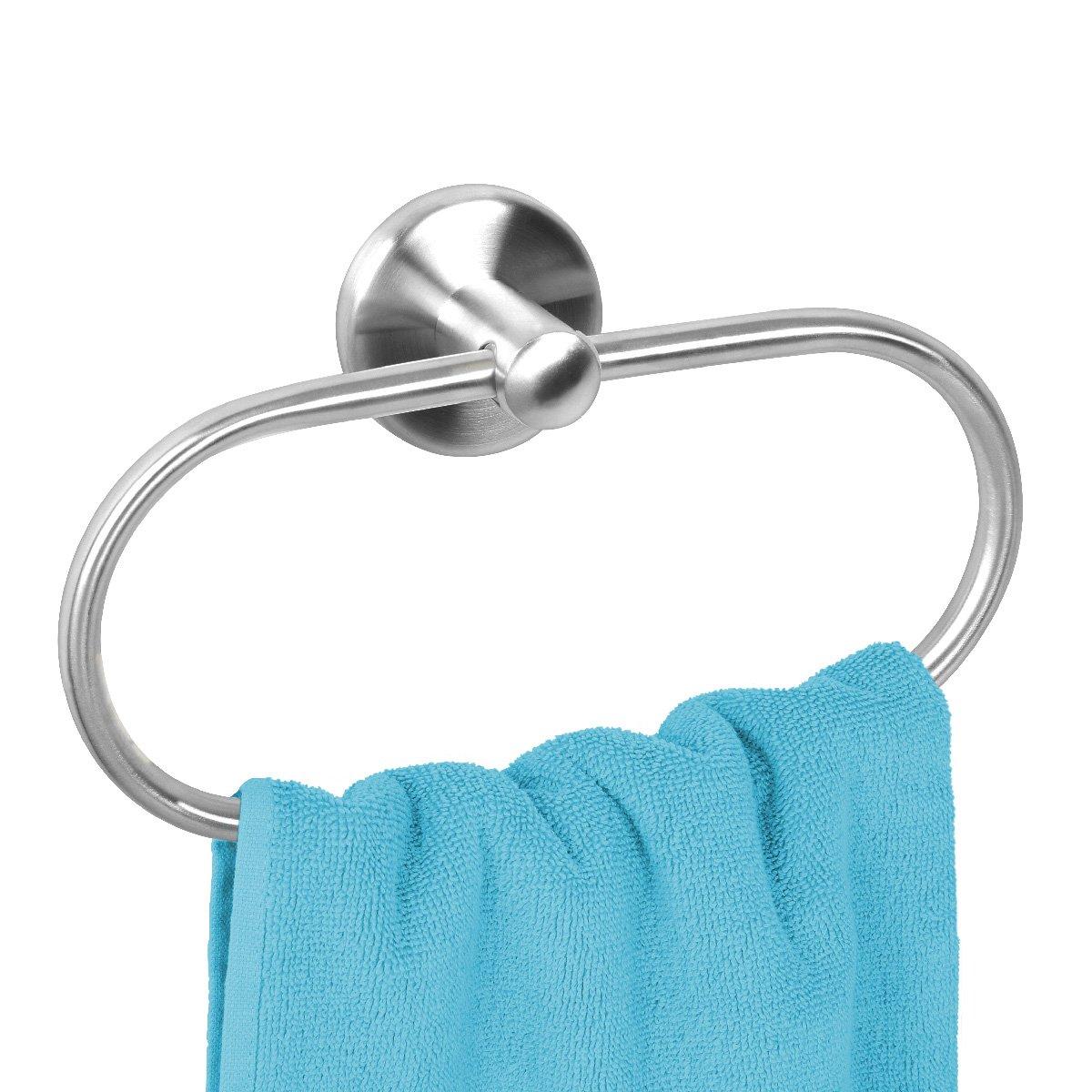 bremermann® PIAZZA Bathroom Series - Hand Towel Ring, matte stainless steel 9423
