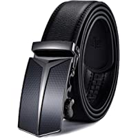 XDeer Men's Leather Ratchet Dress Belts with Automatic Buckle Gift Box