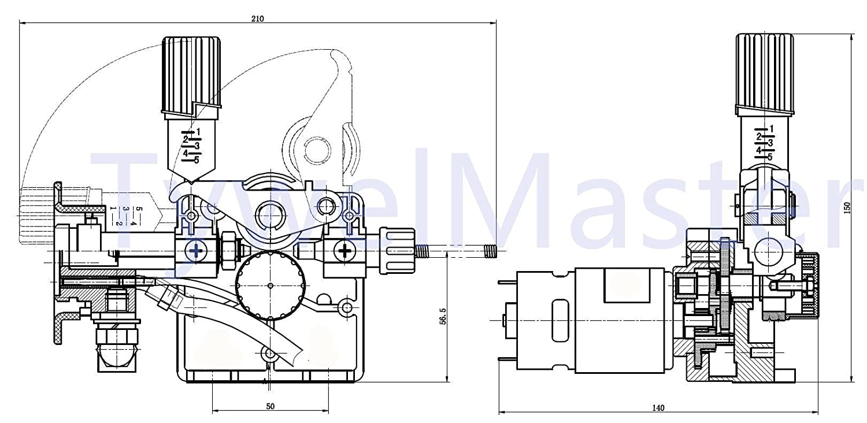 Versi/ón DC 24V para soldador MIG//MAG Soldadora Ensamblaje de alimentaci/ón de alambre de soldadura DC 24V // 12V Alimentador de alambre