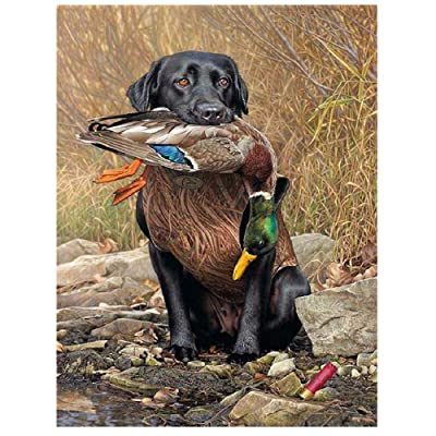 Jigsaw Puzzle 500 Piece Wooden Puzzle Dog and Duck Pattern Family Decorations, Unique Birthday Present Suitable for Teenagers and Adults: Toys & Games