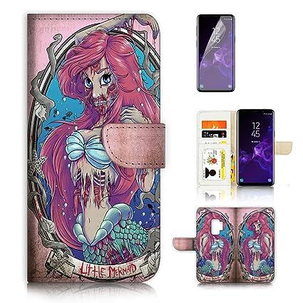 Amazon.com: (para Samsung Galaxy S9) funda tipo portafolios ...