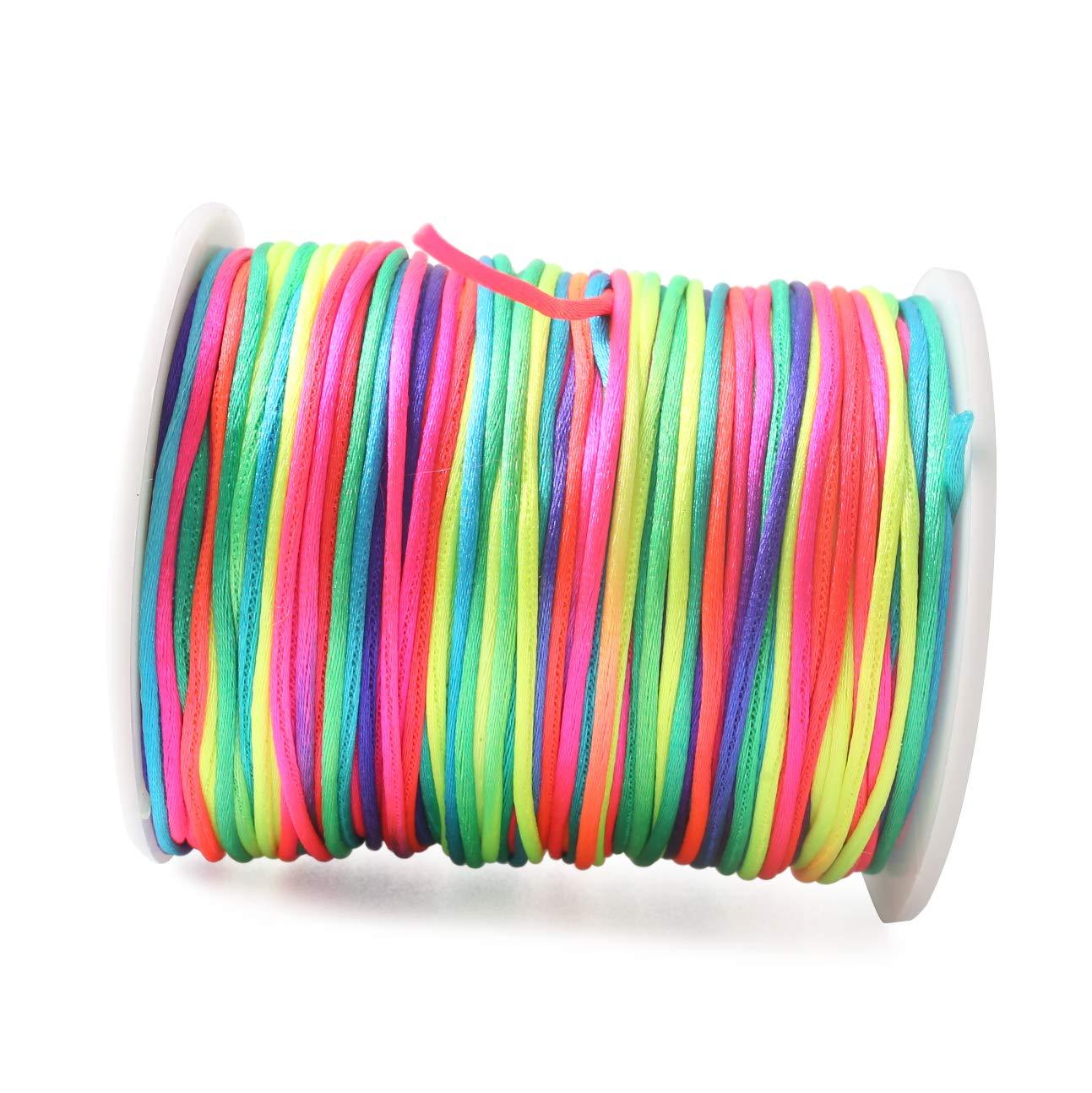 baby tete Corde Nylon Satin//Rattail en Soie pour Bracelet Tress/é Accessoire de Fabrication de Bijoux Perles 75m Balck