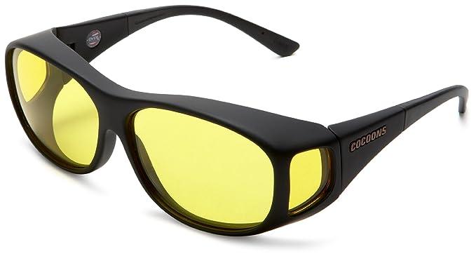 Cocoons Fitovers - Gafas de sol de baja visión (línea fina), negro (