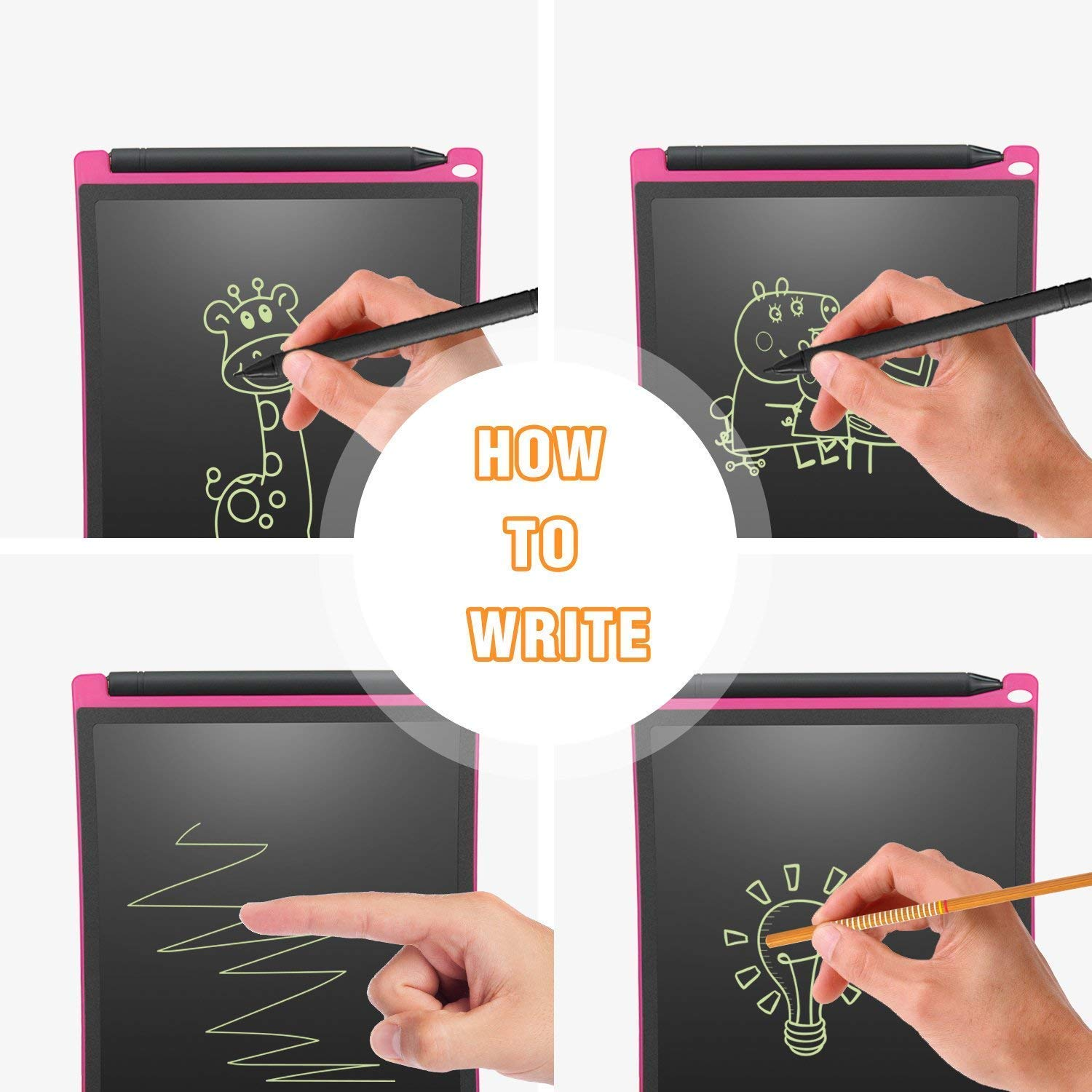 for Note NEWYES 12 Inch LCD Writing Drawing Tablet Green Memo To Do List Suits for All Age Uses for Kids to Doodle