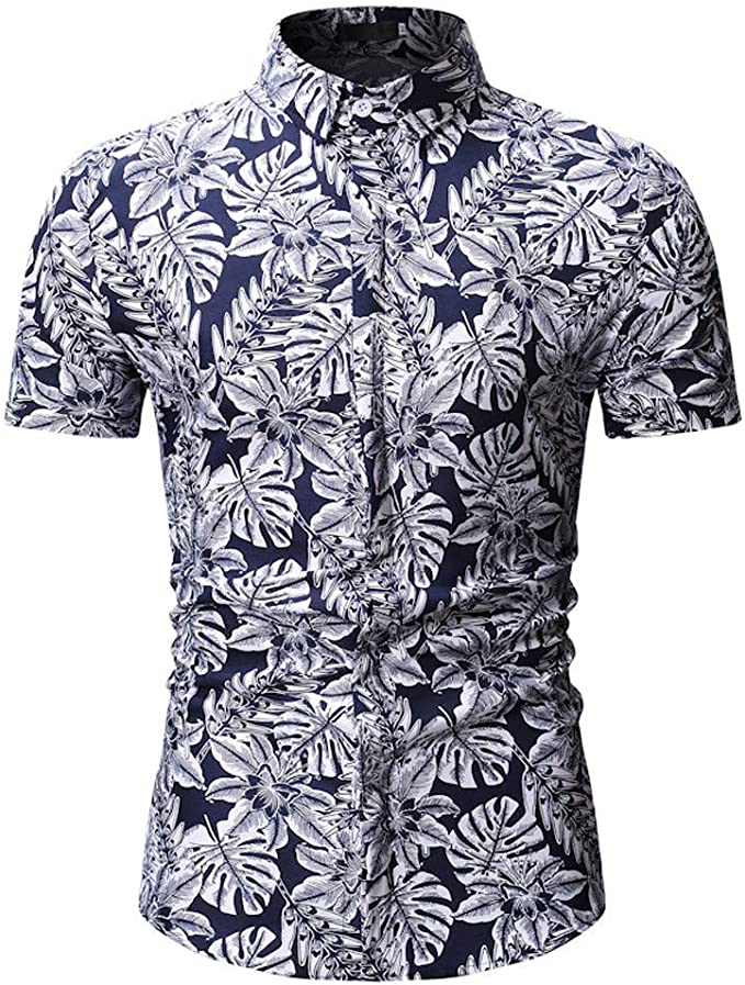 T-Shirts Camicia Slim Fit Stampata Uomo