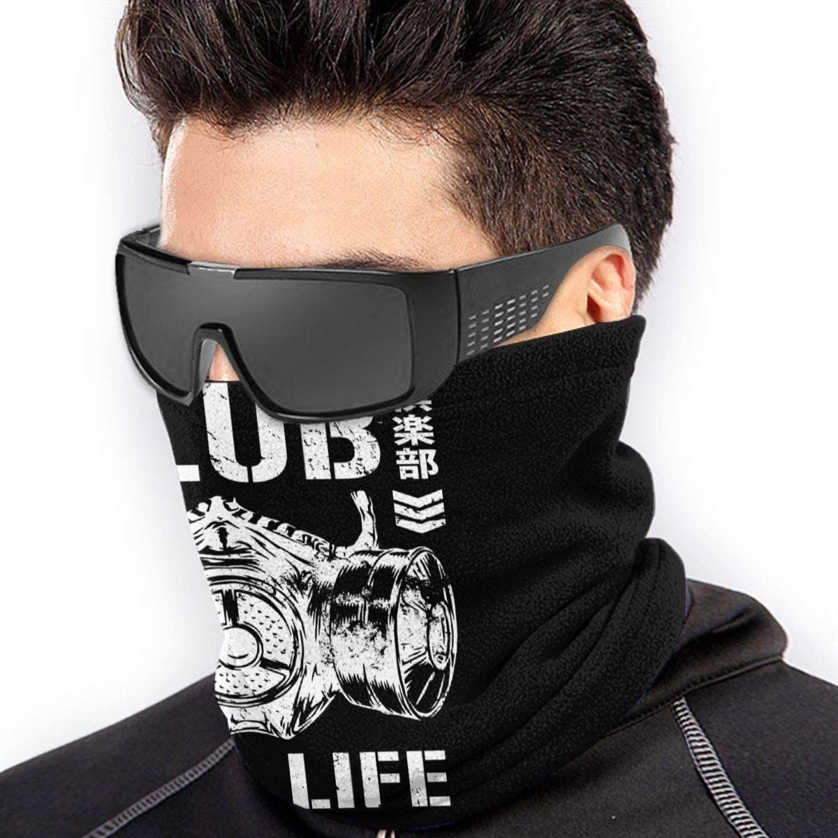 Bullet Clubs Logos Neck Warmer Neck Gaiter For Men Women Face Mask /& Shield For Outdoors Winter Fleece Scarf