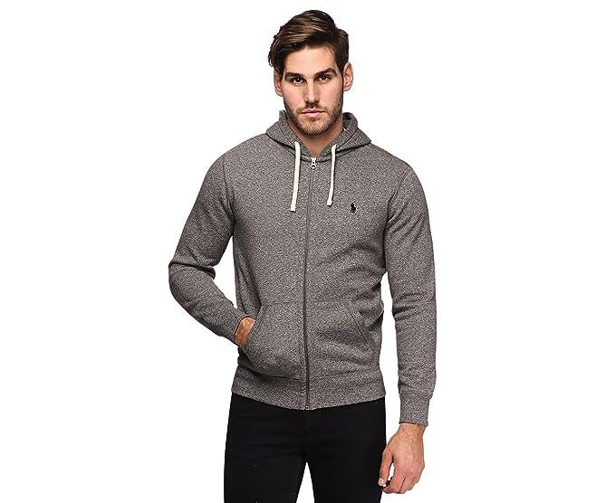 2c9c2dd4477188 ... reduced ralph lauren classic full zip fleece hooded sweatshirt alaskan  heather s 66ae6 a6516