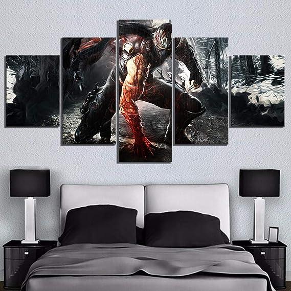 WEPAINT 5 Piezas HD Ninja Picture Print RYU Hayabusa Ninja ...