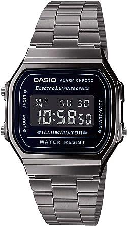 Casio Reloj Digital para Hombre de Cuarzo japonés con Correa en Acero Inoxidable A168WEGG-1BEF: Amazon.es: Relojes